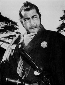 Toshiro Mifune as Sanjuro Kuwabatake/ The Samurai