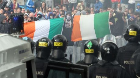 Image from September, 2012 uprising in Belfast, Northern Ireland. Clearly, things are not settled in that area of the world.