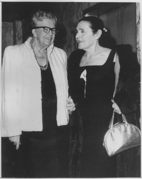 Eleanor Roosevelt and Fannie Hurst