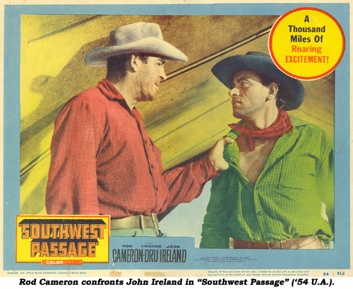 A lobbycard for Southwest Passage (Ray Nazarro, 1954) a lost 3-D film...